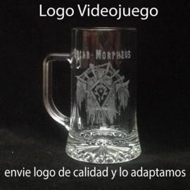 Jarra de cerveza 500cc Grabada dibujo y nombre