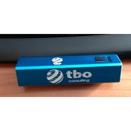 Power bank de aluminio grabado