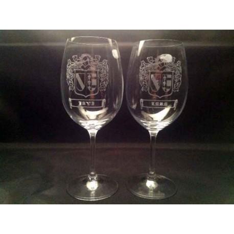 Pack Copas Vino personalizadas con Escudo