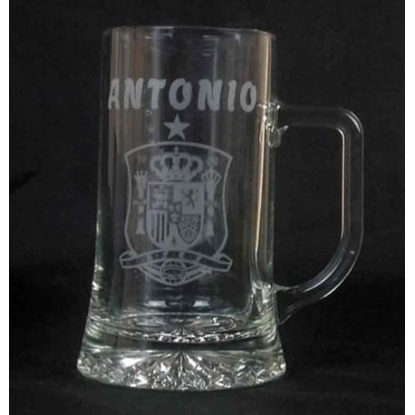 Jarra de cerveza 500cc Personalizada dibujo y nombre