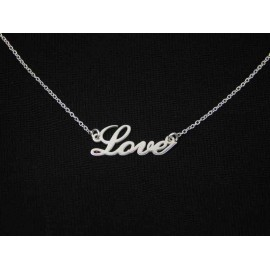 Gargantilla palabra LOVE de plata