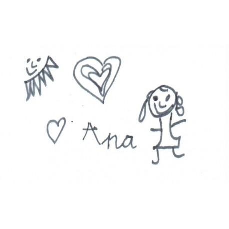 Llavero grabado con dibujo hecho por su hijo