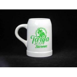 Jarra cerveza de ceramica Grabada dibujo y nombre